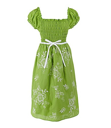 Speechless 7-16 Embroidered Peasant Dress