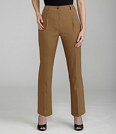 Louben Linen-Mix Straight-Leg Pants
