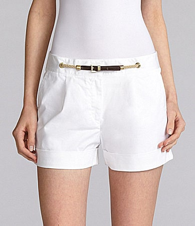 MICHAEL Michael Kors Pleated Rope-Front Shorts