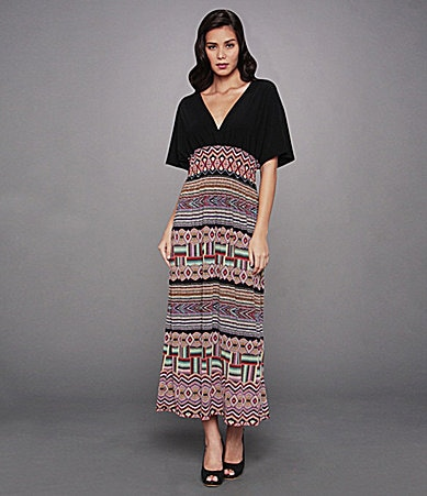 Calessa Tribal-Print Maxi Dress
