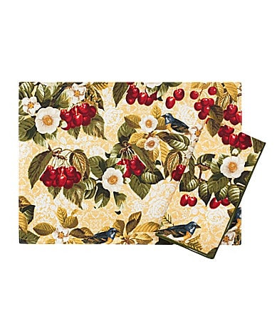 Rose Tree Cherry Garden Placemat & Napkin