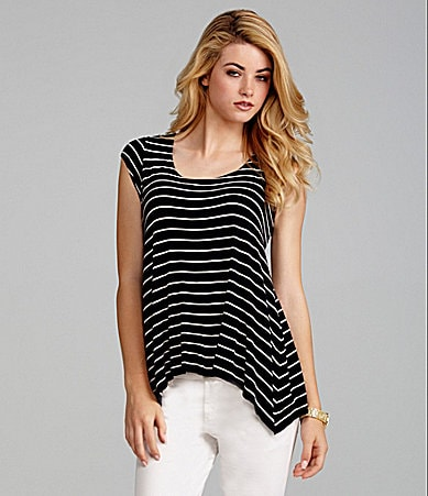 Cremieux Carly Stripe Sharkbite Top