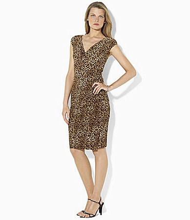 Leopard Dress on Lauren Ralph Lauren Leopard Print Dress   Dillards Com