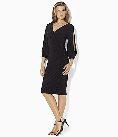 Lauren Ralph Lauren Double V-Neck Dress
