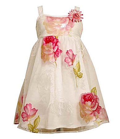 Bonnie Jean 4-6X Burnout Floral Babydoll Dress