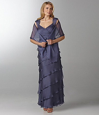 J.R. Nites Tiered Gown