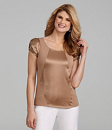 Antonio Melani Knit Marissa Mixed-Media Top
