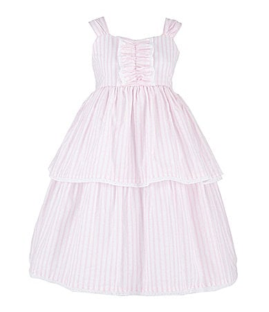 Laura Ashley 2T-6X Striped Tiered Dress