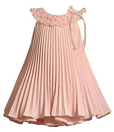 Bonnie Jean Toddler Pleated Linen-Look Dress