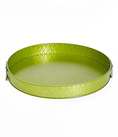 Summer Oasis Galvanized Tray with Diamond Texture