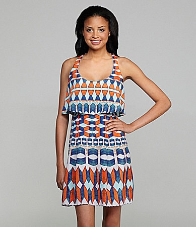 Jessica Simpson Printed Tank Dress