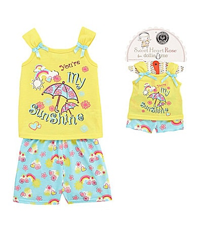 Sweet Heart Rose for Dollie & Me 2T-10 Sunshine Pajama Set