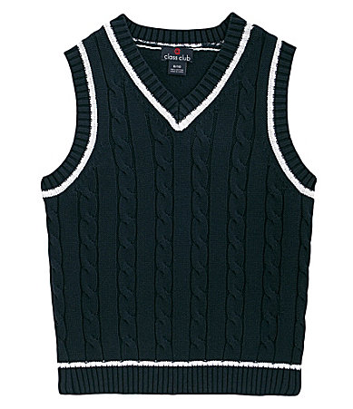 Class Club 2T-7 Cable Sweater Vest