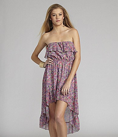 GB Strapless High-Low Dress