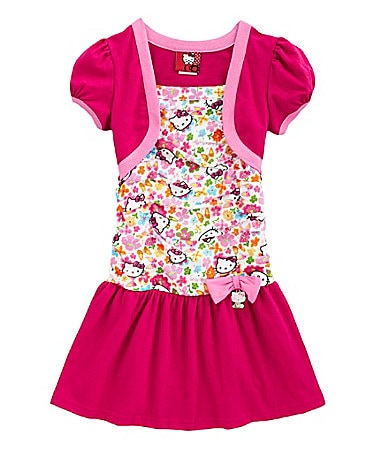 Hello Kitty 2T-6X Drop-Waist Dress & Shrug
