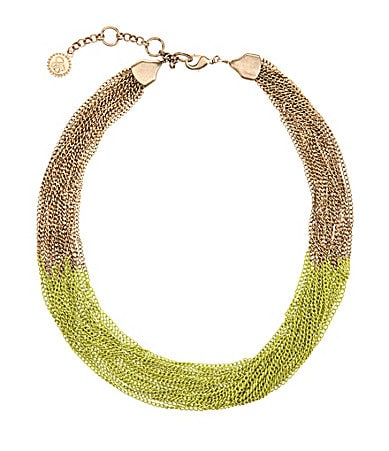 Jessica Simpson Block Party Citrus Chain Necklace