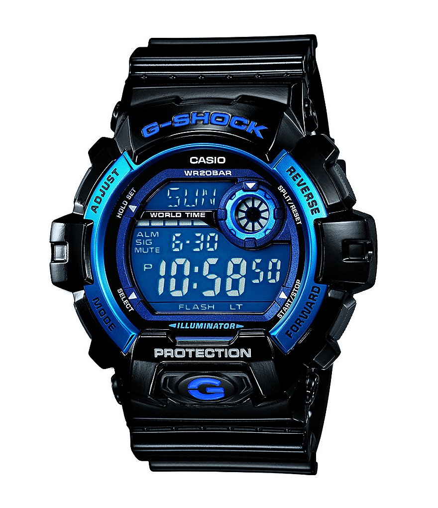 G-Shock Black & Blue Men's Classic Digital Watch
