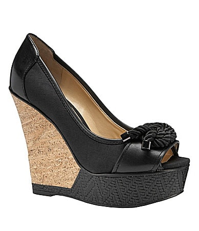 Gianni Bini Mariner Peep-Toe Wedges