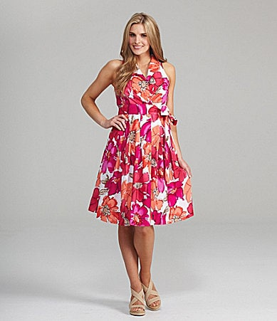 Evan Picone Floral-Print Dress