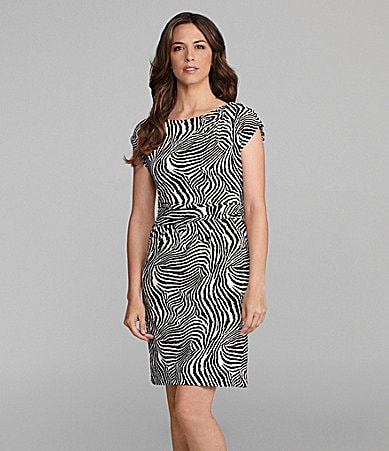 Chaus Zebra Print Dress