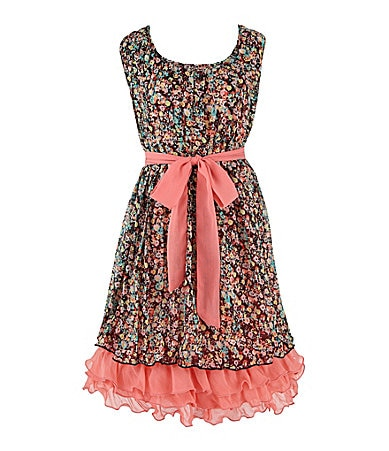 2 Hip by Wrapper 7-16 Printed Pleat Dress