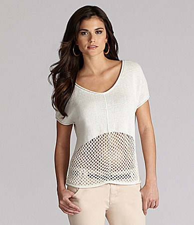 Gianni Bini Tucker Open-Knit Sweater