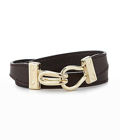 Anna & Ava Leather Wrap Bracelet