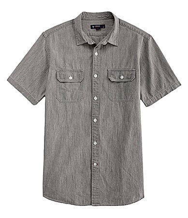 Cremieux Solid Vintage Wash Chambray Shirt