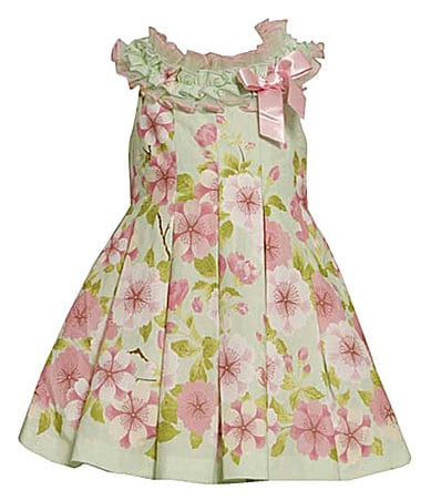 Bonnie Jean 7-16 Floral Border Print Dress