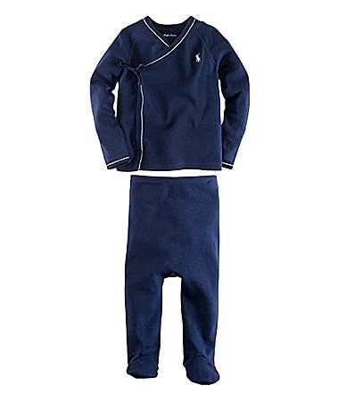Ralph Lauren Childrenswear Newborn Solid Kimono Set