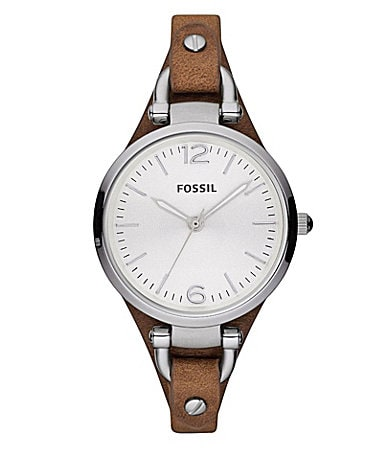 fossil brown leather dillards
