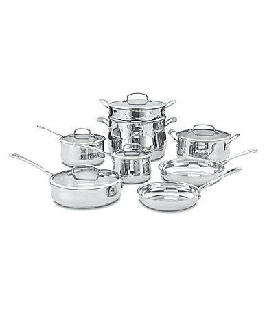 Cuisinart Contour Stainless Steel 13-Piece Cookware Set