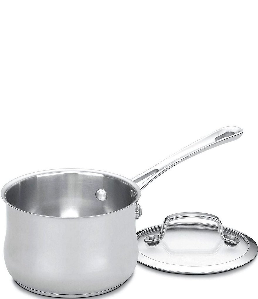 Cuisinart Contour Stainless Steel 1-Quart Saucepan with Cover