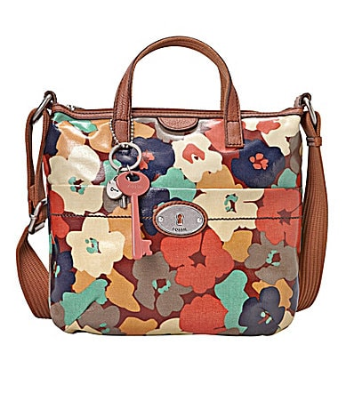 Fossil Floral Key-Per Cross-Body Bag