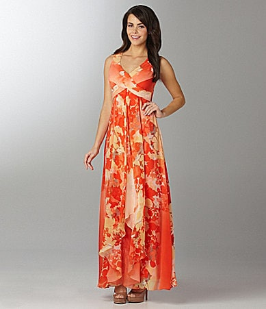 Vince Camuto Floral Printed Maxi Dress