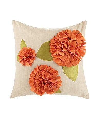 THRO by Marlo Lorenz Hannah Orange Decorative Pillow