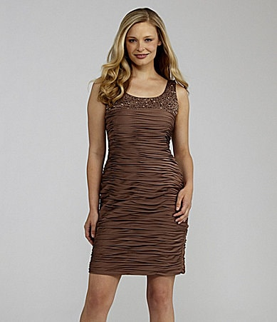 Jessica Howard Beaded Ruched Dress