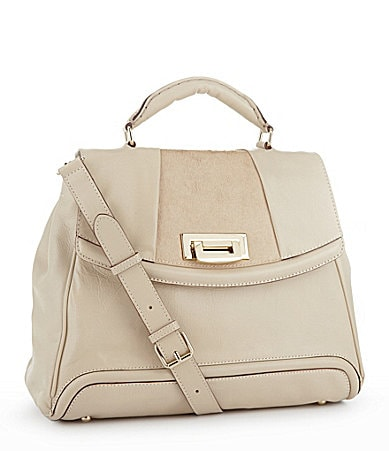 Tre Vero Cortina Haircalf Flap Satchel