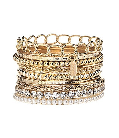 Natasha Accessories Glitz Stack of Bangles