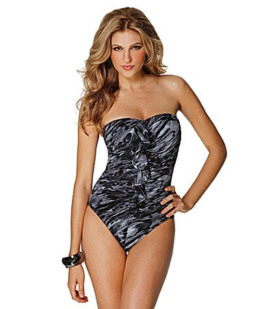 Miraclesuit Wild Cat Bandeau One-Piece Swimsuit
