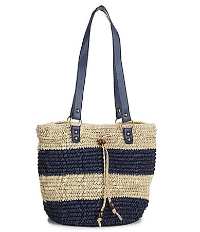 Straw Studios Beach Stripe Drawstring Hobo