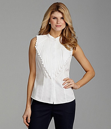 Antonio Melani Connely Sleeveless Sateen Blouse
