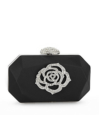 Kate Landry Social Rhinestone Flower Box Evening Bag