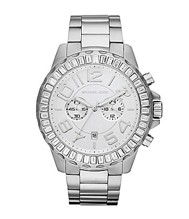 Michael Kors Rox Chronograph Silver Ladies Watch