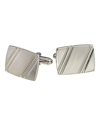Murano Line Pattern Cuff Links
