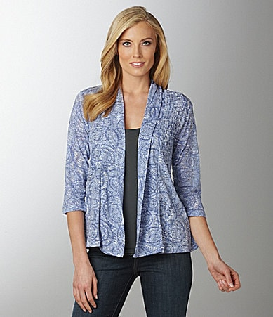 Westbound Shirred Burnout Cozy Cardigan