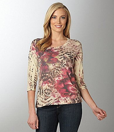 Westbound Sublimation Scoopneck Top