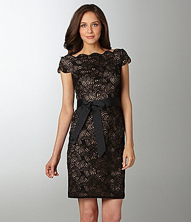 Tadashi Boatneck Lace Dress