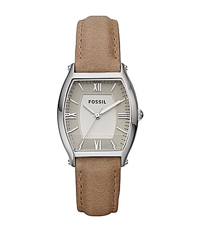 Fossil Ladies Light Brown Leather Watch