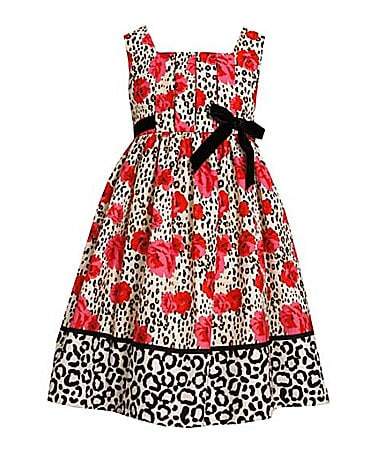Bonnie Jean 2T-6X Leopard/Rose Printed Dress